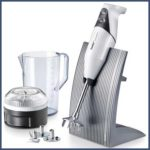 Bamix Swissline Hand blender set with 200W blender stick, processor, jug, 3 blades and stand.
