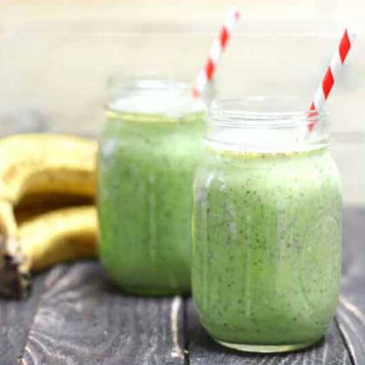 Breakfast… healthy green smoothie