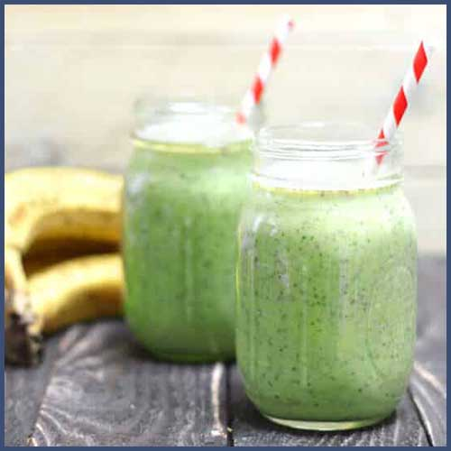 Breakfast… healthy green smoothie