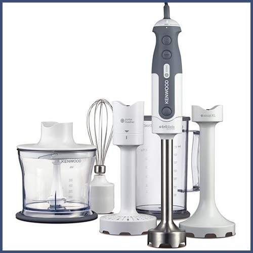 Kenwood HDP406 hand blender set. Voted one of our best hand blenders to buy in 2018