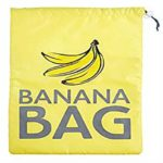 A Yellow insulated drawstring bag to keep bananas fresh in the fridge