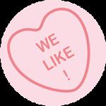 we like love heart