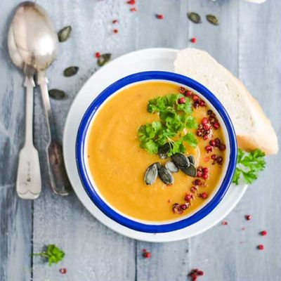 Lunch… exotic pumpkin soup