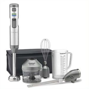 Cuisinart cordless stick blender, CSB-300 stainless steel pro model with 3 attachments