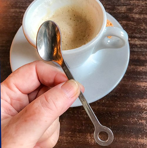 Cute spoons… espresso spoon, coffee spoon, latte spoon