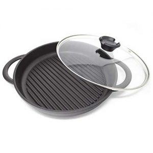 Griddle and oven and everything pan with lid