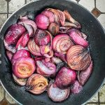 red onions cooked in butter
