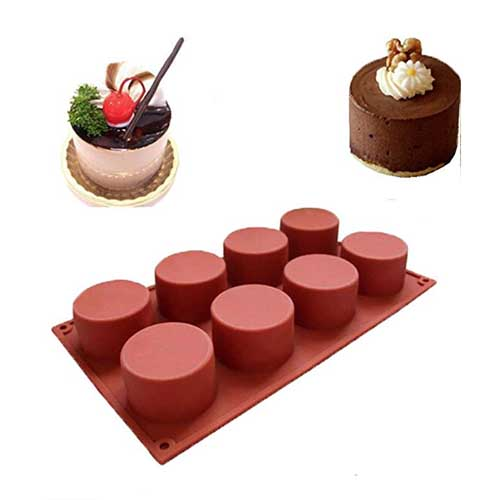 silicon mini cake moulds for soap, muffins, chocolate and more