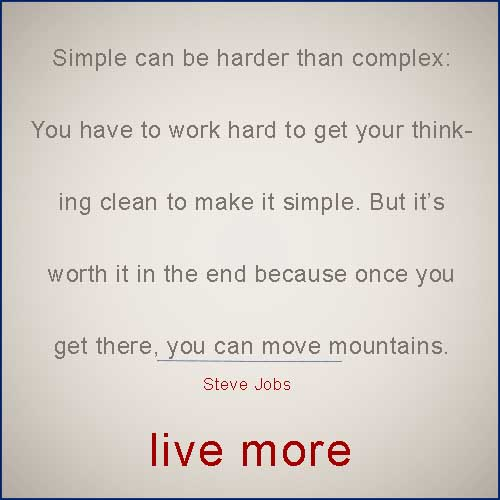 Steve Jobs quote on simple vs complex