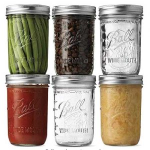 wide mouth mason jars for hand blending in , sous vide cooking, canning, freezing etc