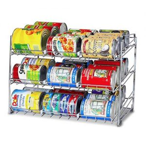 Canned food organiser, also known as a can stacker