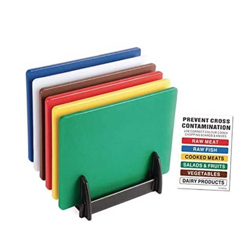 colour coded chopping board