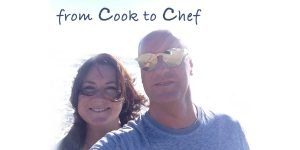 selfie picture of Paul and Aoibheann Hopkins, owners of fromcooktochef.com