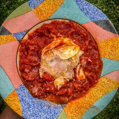 shakshouka spicy tomato dish