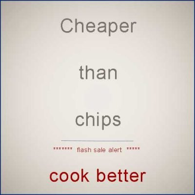 Cheaper than chips (famous chefs cookbook flash sale)