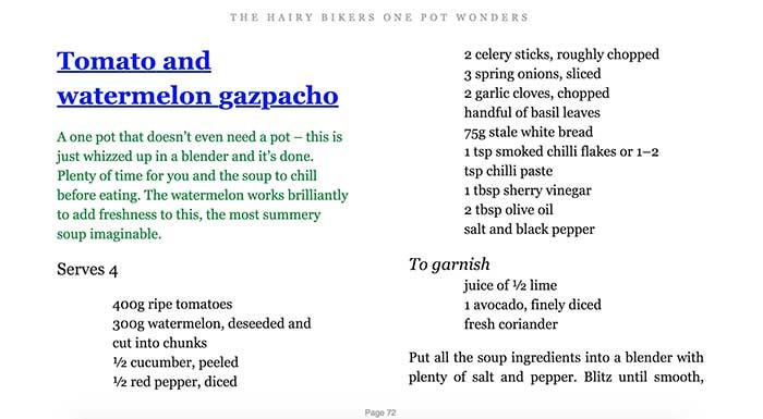 ebook recipe