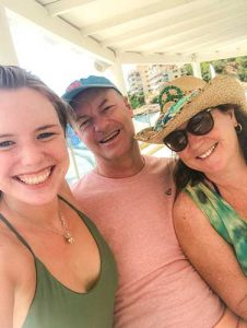 paul, aoibheann and alana family beach shot