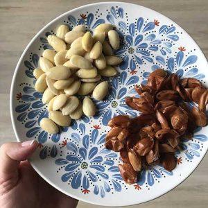 how to peel almonds