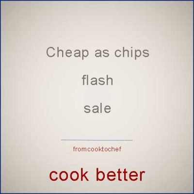 Cheap as chips flash sale (famous chefs cookbook)