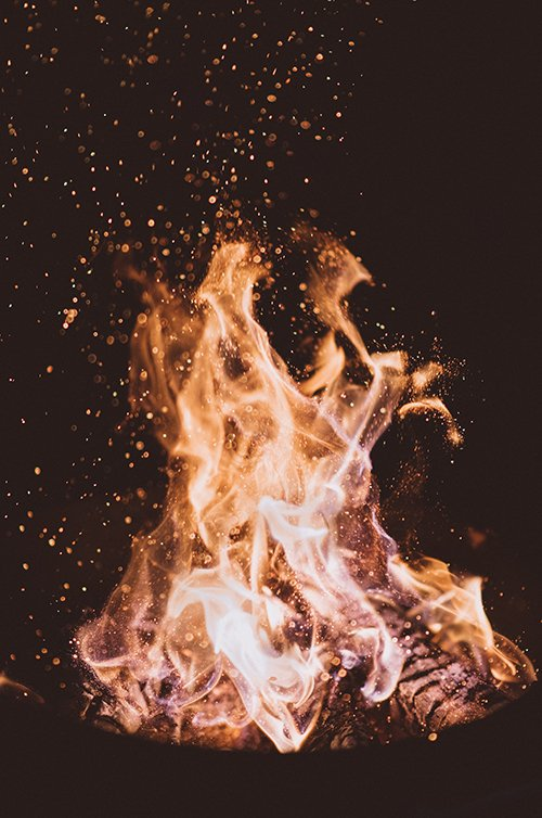 BBQ fire logs