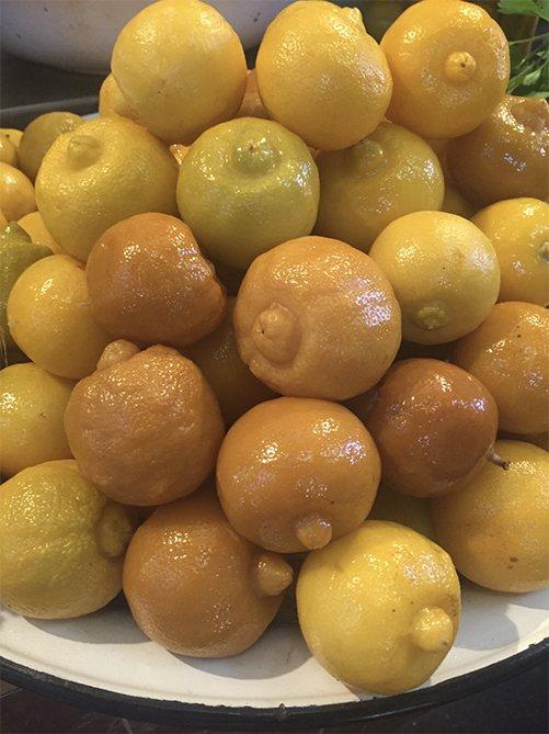 lemons in the Marrakech souks